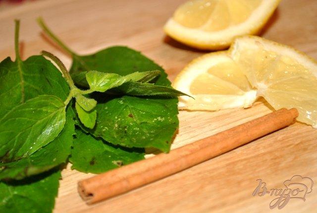 Фото приготовление рецепта: Мятный чай с лимоном и корицей шаг №1