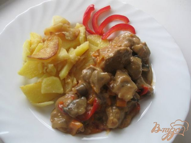 Рецепт Куриные желудки в подливке