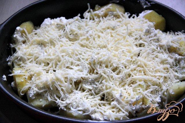 Фото приготовление рецепта: Картофельно-сырный гарнир шаг №3