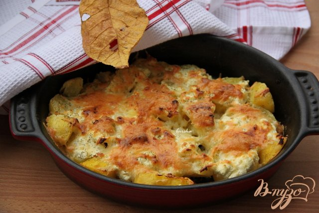 Фото приготовление рецепта: Картофельно-сырный гарнир шаг №4