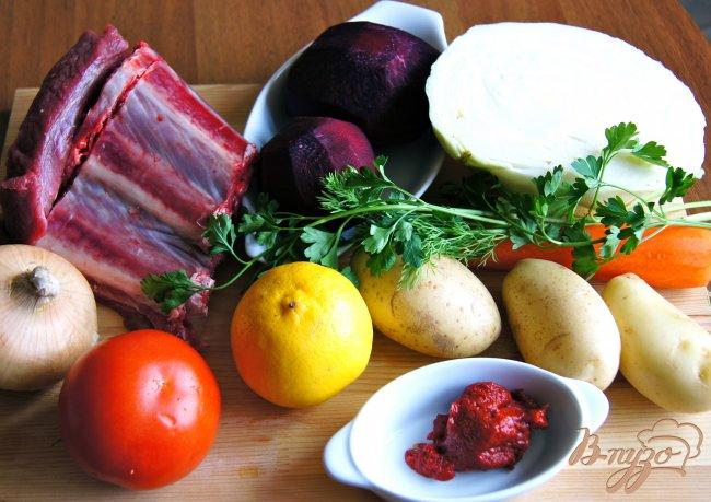 Фото приготовление рецепта: Борщ с телятиной шаг №1