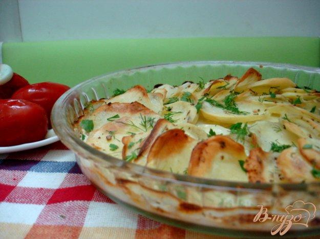 Рецепт Картофель запеченный со сливками