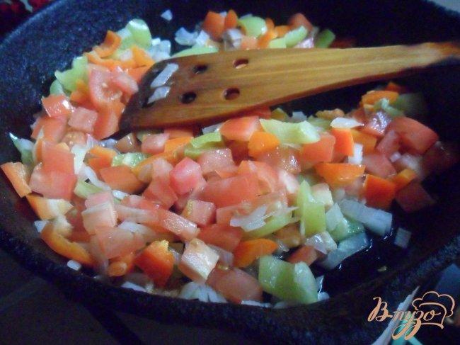 Фото приготовление рецепта: Овощной суп с фрикаделькаим шаг №6