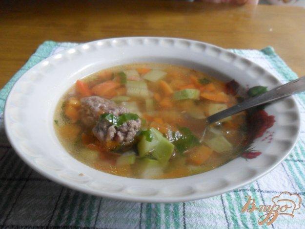 фото рецепта: Овощной суп с фрикаделькаим