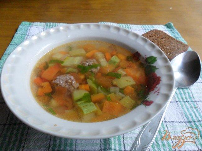 Фото приготовление рецепта: Овощной суп с фрикаделькаим шаг №11