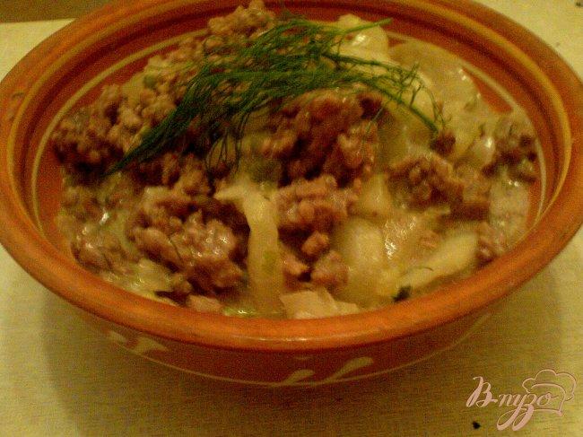 Фото приготовление рецепта: Пикантное рагу с огурцами шаг №9