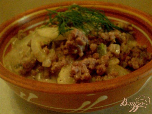 фото рецепта: Пикантное рагу с огурцами
