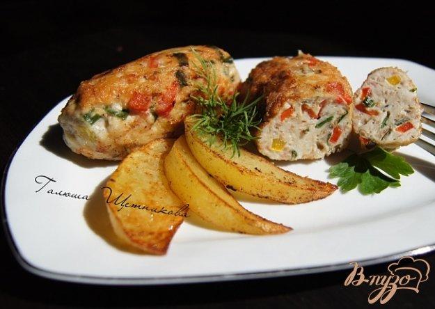 Рецепт Куриные котлеты с болгарским перцем и беконом