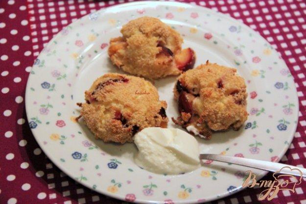 Рецепт Творожно-вермишелевые зразы с яблоком и сливами