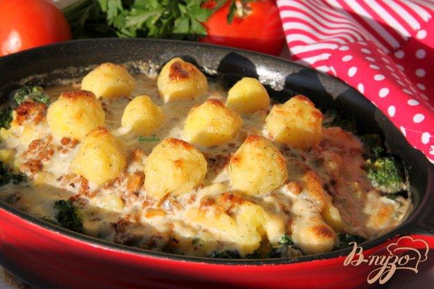 фото рецепта: Мусака с брокколи и картофельным пюре