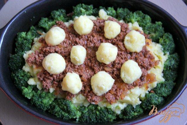 Фото приготовление рецепта: Мусака с брокколи и картофельным пюре шаг №8
