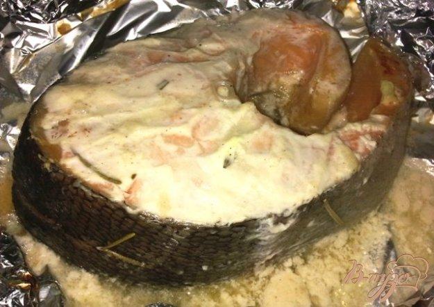 Рецепт Запеченный лосось в кефирном маринаде