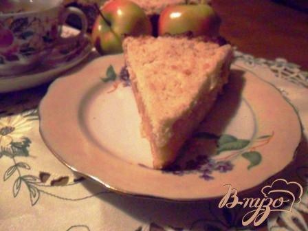 Яблочный пирог - sour cream apple pie