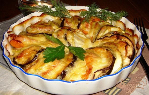 Рецепт Запеченные овощи с индейкой