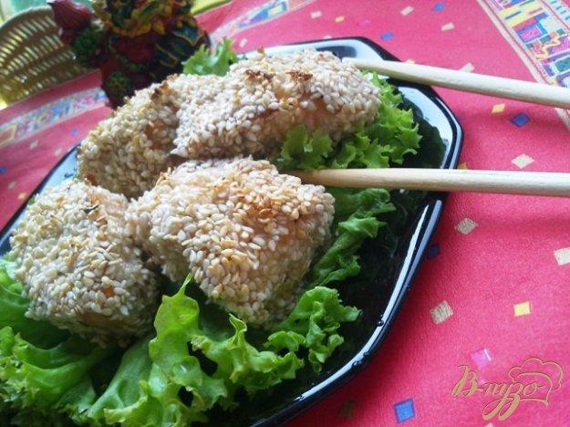 Рецепт Лосось, запеченный в кунжуте