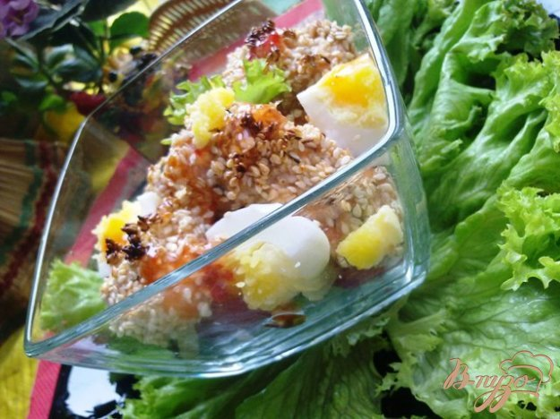 Рецепт Теплый салат с лососем