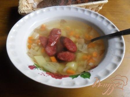 Картофельный суп с колбасками