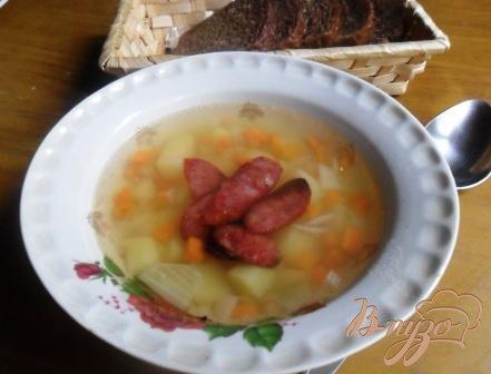 фото рецепта: Картофельный суп с колбасками
