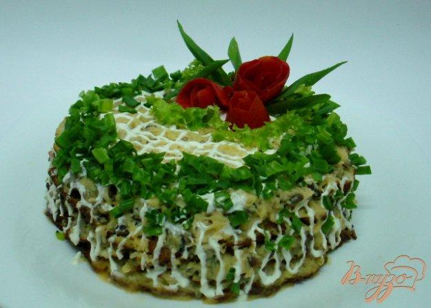 Рецепт Кабачковый тортик с грибами