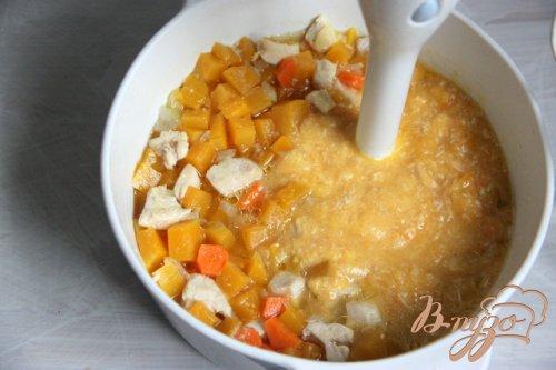 Тыквенно-куриный суп-пюре