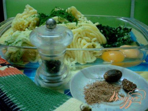 Клёцки с сыром и шпинатом