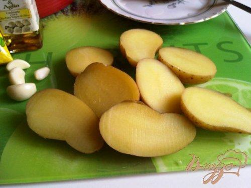 Картофель запеченый с кунжутом