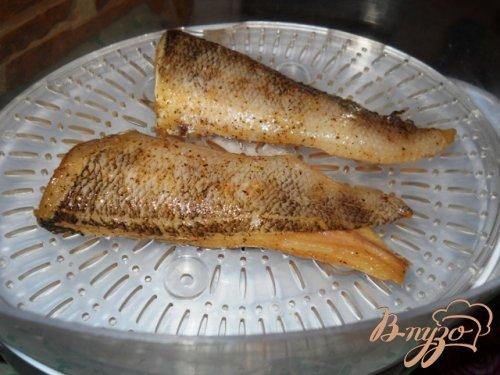 Рыба на пару под горчичным соусом