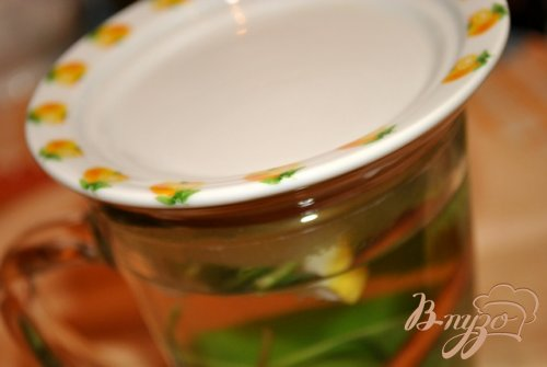 Мятный чай с лимоном и корицей