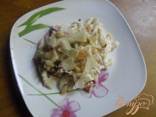 Паста с ветчиной и сыром