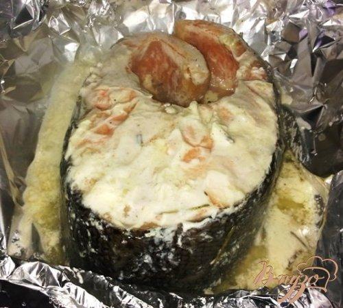 Запеченный лосось в кефирном маринаде