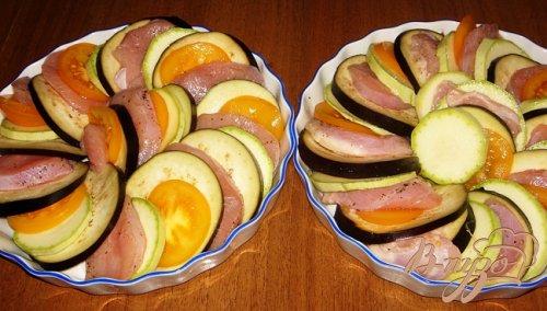 Запеченные овощи с индейкой