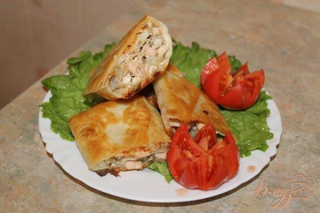 Рецепт Горячий рыбный рулет из лаваша