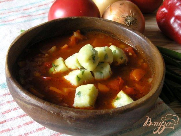 Рецепт Томатный суп с творожными клецками