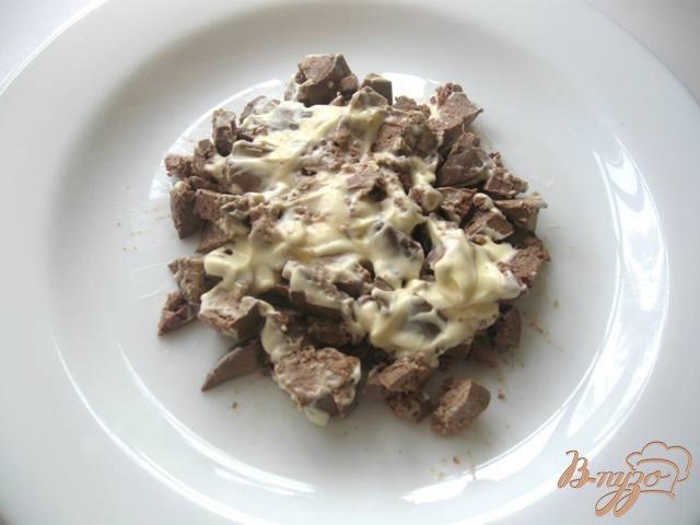 Фото приготовление рецепта: Салат из куриной печени