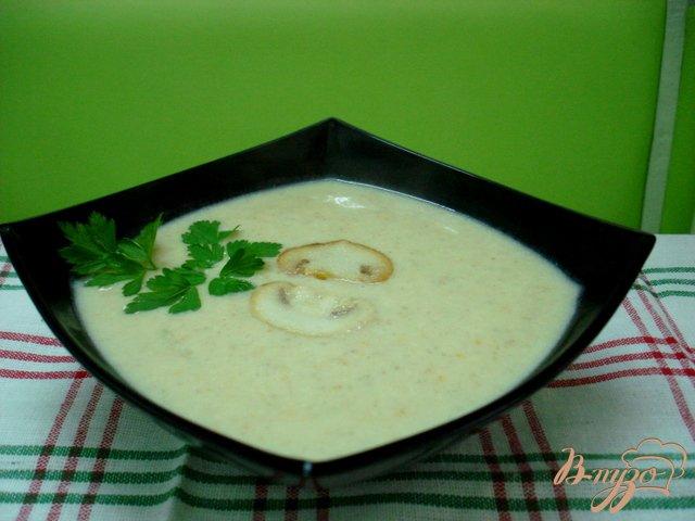 Фото приготовление рецепта: Грибной суп пюре шаг №6