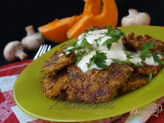 Рецепт Тыквенно-картофельные драники с грибами