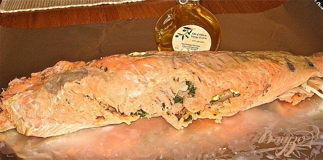 Фото приготовление рецепта: Рулет из рыбы шаг №4