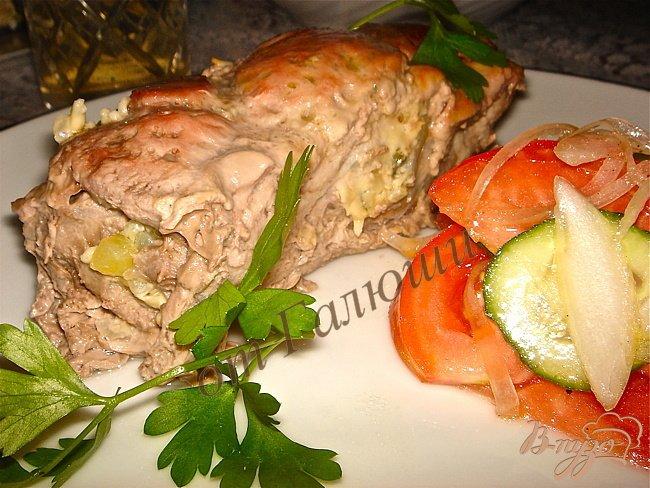 Фото приготовление рецепта: Вкусные свиные рулетики с начинкой шаг №5