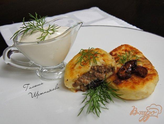 Рецепт Картофельные зразы с грибами и говядиной