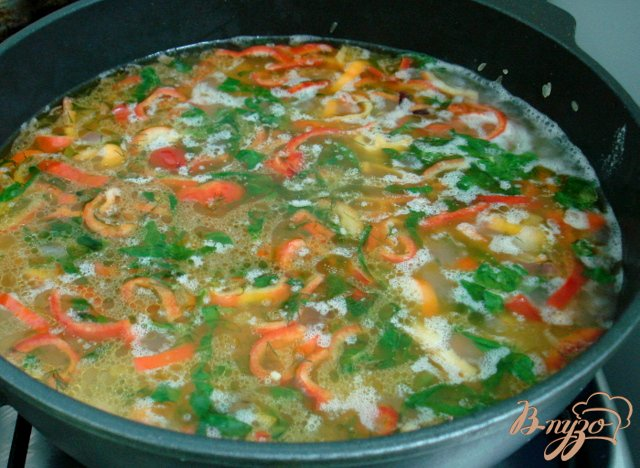 Фото приготовление рецепта: Рис с овощами шаг №5