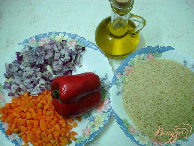 Фото приготовление рецепта: Рис с овощами шаг №1