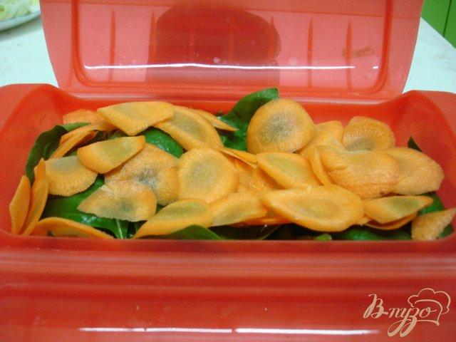 Фото приготовление рецепта: Лосось на овощной подушке шаг №3
