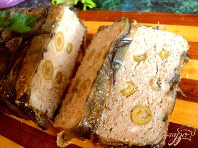 Фото приготовление рецепта: Террин с баклажанами и оливками шаг №11