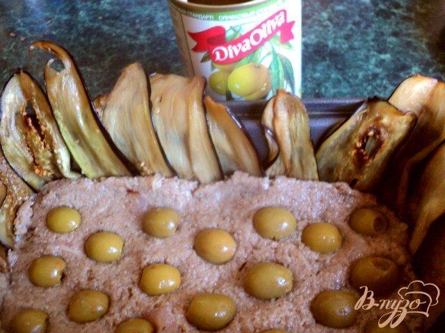 Фото приготовление рецепта: Террин с баклажанами и оливками шаг №7