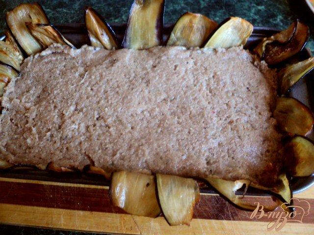 Фото приготовление рецепта: Террин с баклажанами и оливками шаг №8