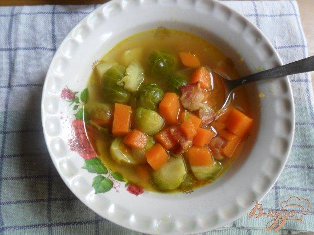 фото рецепта: Похлёбка из тыквы и брюссельской капусты