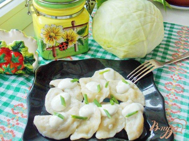 фото рецепта: Вареники с капустой