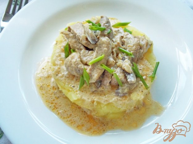 Рецепт Свинина с грибами в сметане