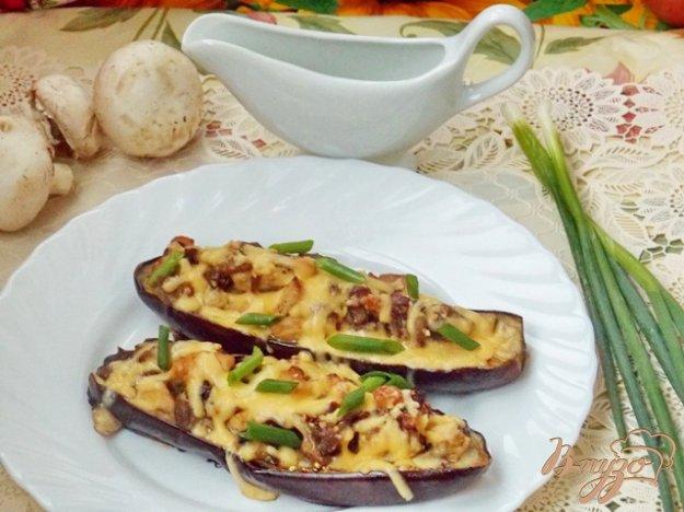 Рецепт Баклажаны фаршированные курицей и грибами