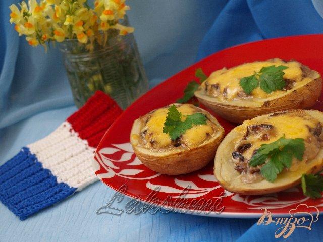 Фото приготовление рецепта: Жюльен в картофеле шаг №5